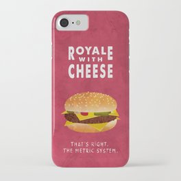 Pulp Fiction - royale with cheese iPhone Case