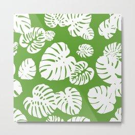 Multicolor Tropical Leaves 4 Metal Print