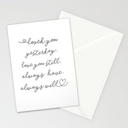 Love You Stationery Cards