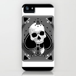 Skull Ace of Spades iPhone Case