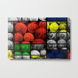 Snail collage Metal Print