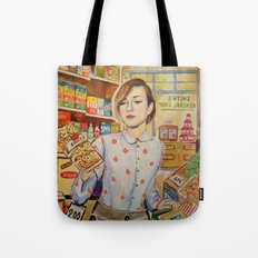 Supermarket vintage, painting, retro Tote Bag