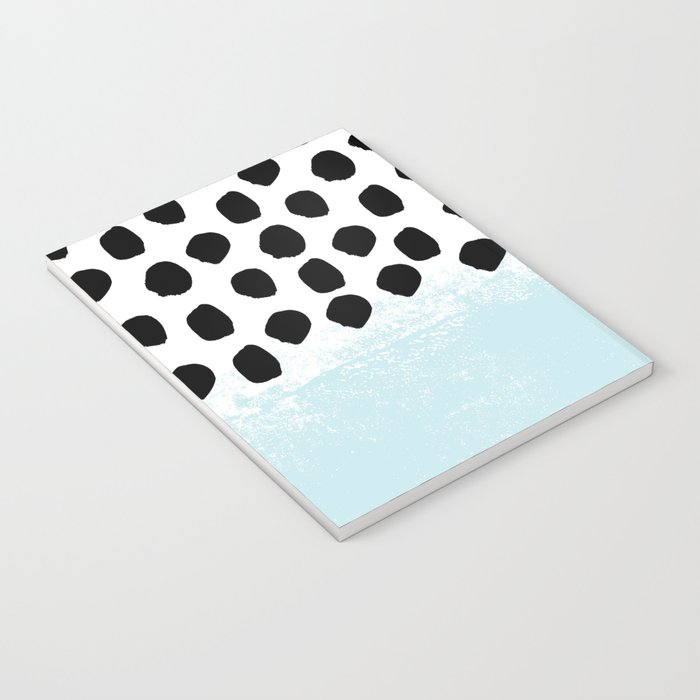Lolita - Modern mint dots abstract painting minimal design trendy hipster decor dorm office retail  Notebook