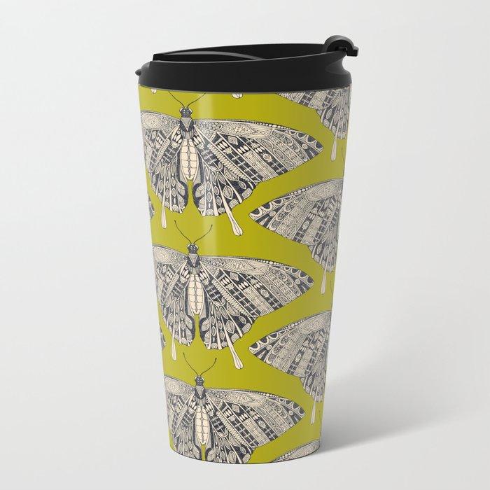 swallowtail butterfly citron basalt Metal Travel Mug