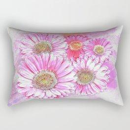 Pink Gerber Painterly Watercolor Rectangular Pillow