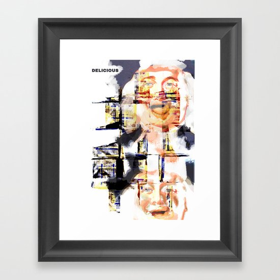 Oatmeal is Delicious Framed Art Print