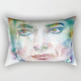 MARIA CALLAS - watercolor portrait Rectangular Pillow