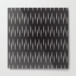 Vertical abstract black and white pattern Metal Print