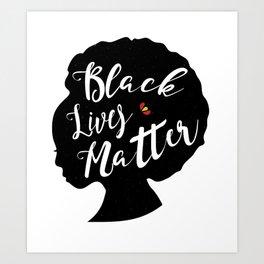 Black Lives Matter - Silhouette Art Print