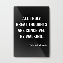 Friedrich Nietzsche On Walking Metal Print