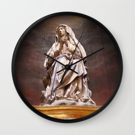 Weeping Madonna Wall Clock