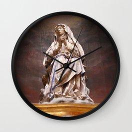 Weeping Madonna Wall Clock