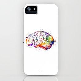 Brain Art Human Brain Anatomy Art Brain Watercolor Anatomy Decor Anatomical Brain Medical Art iPhone Case