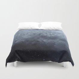 Blue veiled moon Duvet Cover