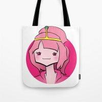 princess bubblegum Tote Bags featuring Bubblegum by Shay Bromund