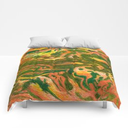 Marbleized and Glazed Comforters