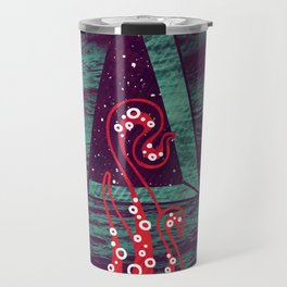 It fell from the stars, It rose from the sea Travel Mug