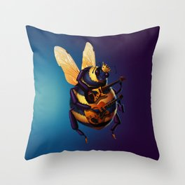 King Bee Throw Pillow