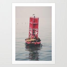 Ocean Sleep Art Print
