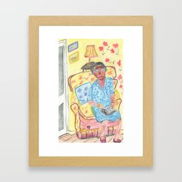 peg. Framed Art Print