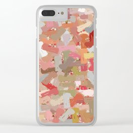Coral Beads Paint Splatter 5050 Clear iPhone Case