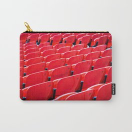 Red Stadium Seats Carry-All Pouch