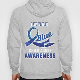 Stop Crime Child Abuse Prevention Month Gift I Wear Blue For Child Abuse Awareness Hoody