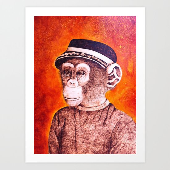 Mr. C the Chimp Art Print
