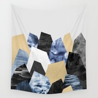 minerals Wall Tapestries featuring Rock Formations by Elisabeth Fredriksson