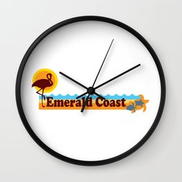 Emerald Coast -Florida. Wall Clock