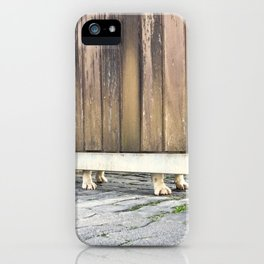 Paws Of A Waiting Bulldog iPhone Case