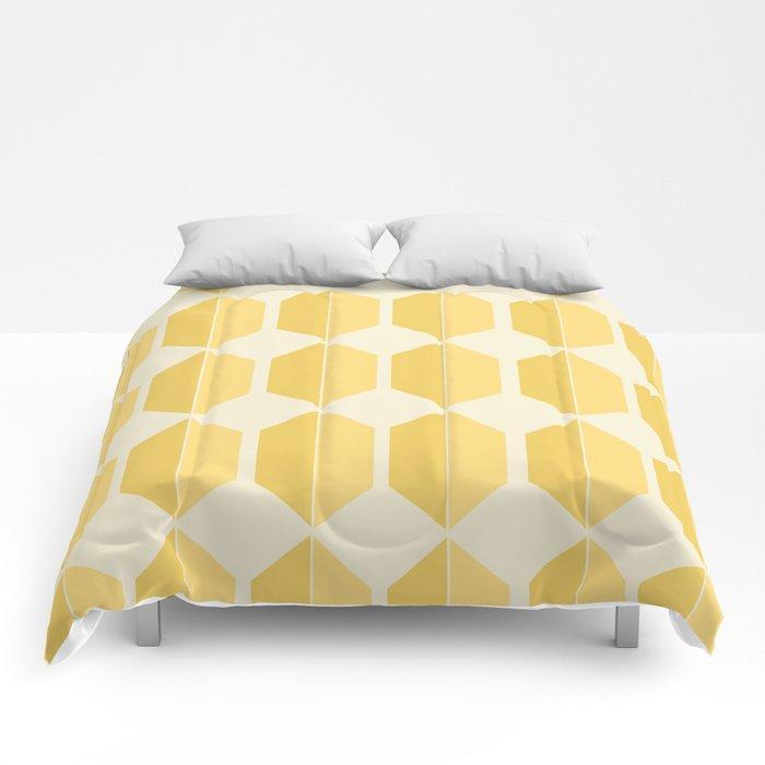Zola Hexagon Pattern - Golden Spell Comforters