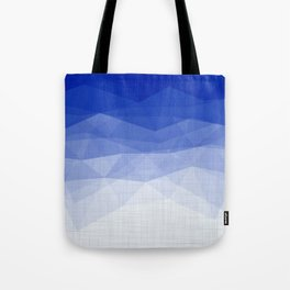 Imperial Lapis Lazuli - Triangles Minimalism Geometry Tote Bag