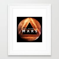 30 seconds to mars Framed Art Prints featuring 30 Seconds to Mars by AshThePixster