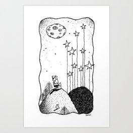 Stargazing.. Art Print