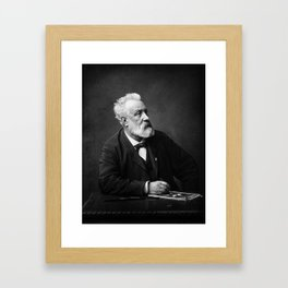 Jules Verne - Father of Science Fiction Framed Art Print