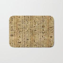 Egyptian hieroglyphs on papyrus Bath Mat