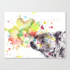 Portrait Of a Grizzly Brown Bear Canvas Print
