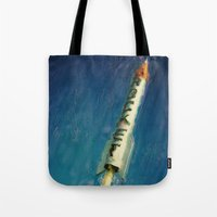 rocket Tote Bags featuring Rocket by Kevin Garrison