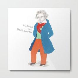 Ludwing van Beethoven Metal Print