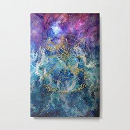 Celestial Ocean Navigator Metal Print