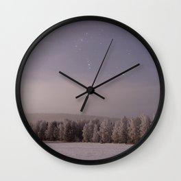 Snow and Stars Wall Clock