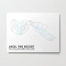 Angel Fire, NM - Minimalist Trail Maps Metal Print