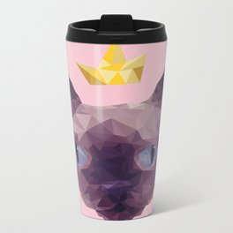 King Cat. Metal Travel Mug