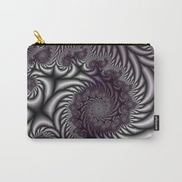Purple and Gray Carry-All Pouch