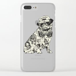 Pug Tattoo Clear iPhone Case
