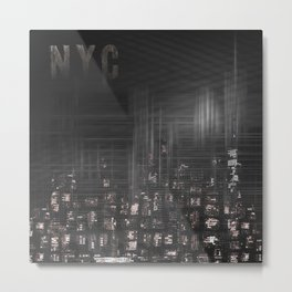 MODERN ART New York City Skylines | black Metal Print