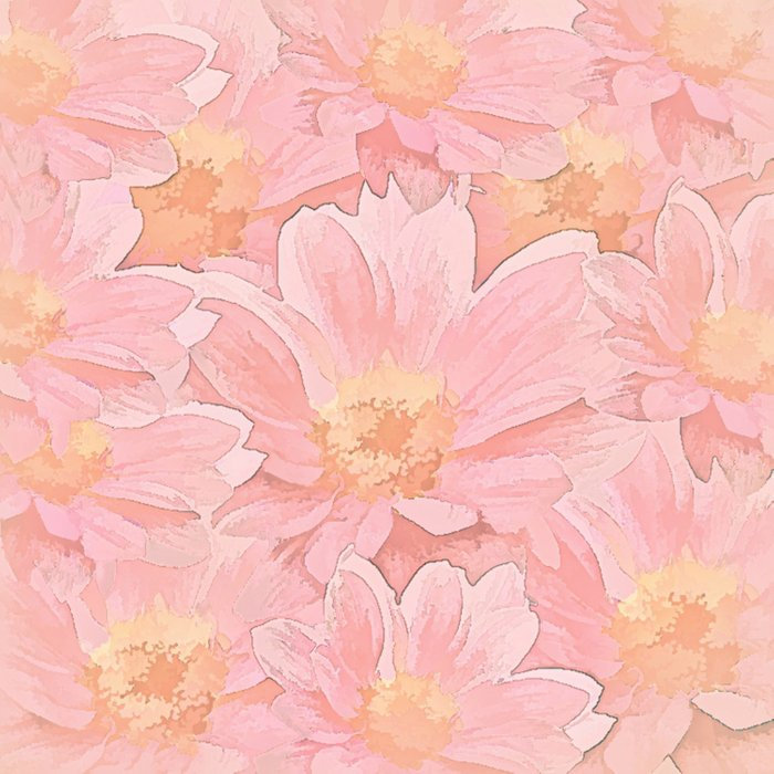Pretty In Pink Painterly Floral Comforters