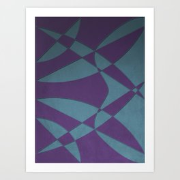 Wings and Sails - Purple and Light Blue Art Print