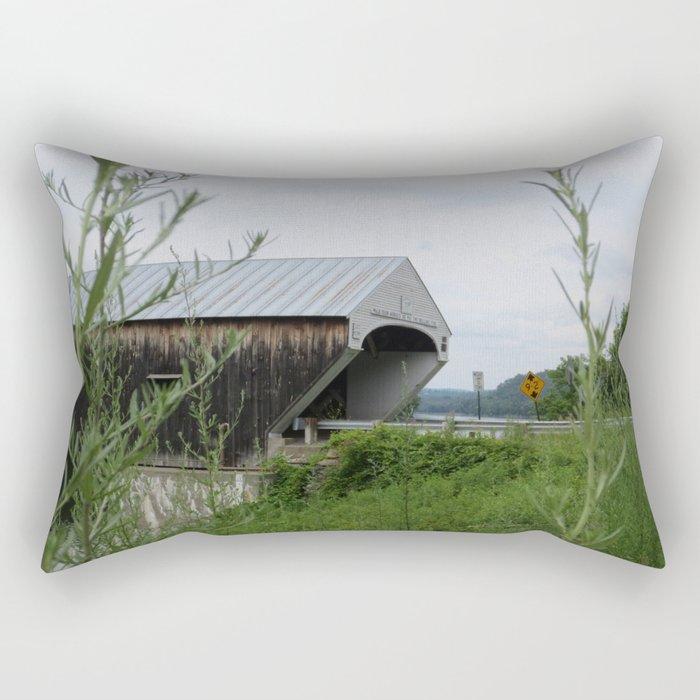 Covered Bridge Rectangular Pillow